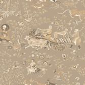 Houndstooth Kismet Cashmere Sandcastle Wallpaper ML1273