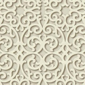 TD4724 Dimensional Effects Fortuna Buttermilk Wallpaper