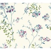 Watercolors WT4533 SOFT BLOSSOMS  Wallpaper