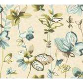 Watercolors WT4544 WHIMSICAL GARDEN  Wallpaper