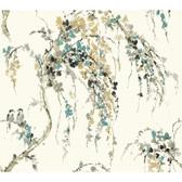 Watercolors WT4557 LOVEBIRDS  Wallpaper