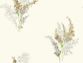 white & taupe & grey & brown & yellow & green Watercolors Delphinium Wallpaper