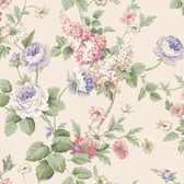 Callaway Cottage CT0845 Monogram Rose Wallpaper