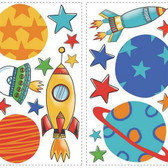 ROOM TO GROW RMK2618SCS PLANETS & ROCKETS WALL DECAL