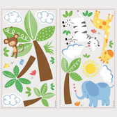 ROOM TO GROW RMK2635SCS BABY SAFARI WALL DECAL