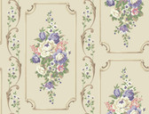 Casabella II BA4504 Floral Panel Wallpaper
