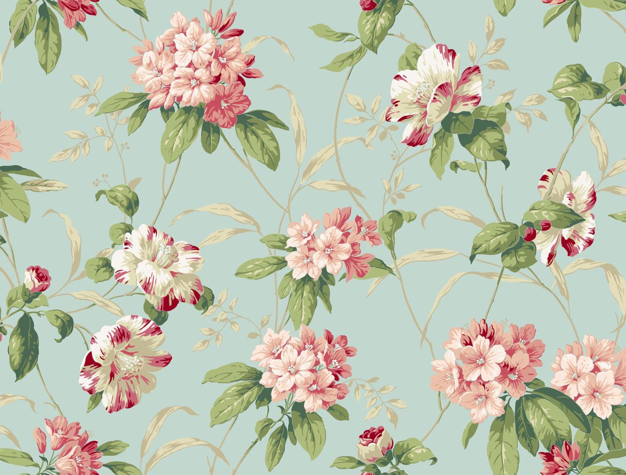 Casabella Ii Ba4540 Rhododendron Floral Wallpaper