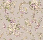 Arlington EL3956 Floral Scroll Wallpaper