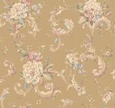 Arlington EL3960 Floral Scroll Wallpaper