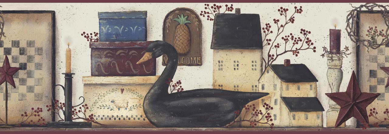 York Wallcoverings BG1614BD The Black Swan Border
