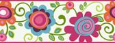 Border Portfolio II PW3955B Floral Scroll Border