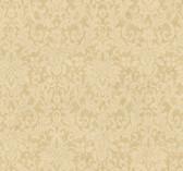 Handpainted III Floral Damask Flaxen Wallpaper HP0340