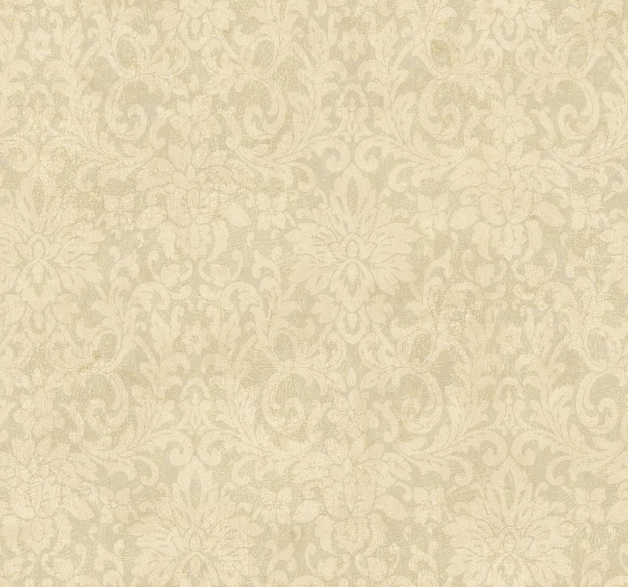 Handpainted Iii Hp0341 Floral Damask Wallpaper Indoorwallpaper Com