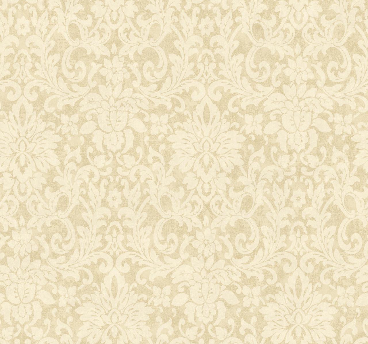 Handpainted Iii Hp0342 Floral Damask Wallpaper Indoorwallpaper Com