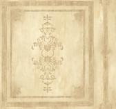 Handpainted III Architectural Panel Flaxen Wallpaper HP0381
