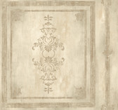 Handpainted III Architectural Panel Sage Wallpaper HP0384