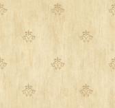 Handpainted III Classic Fleur De Lis Sand Wallpaper HP0389