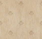 Handpainted III Classic Fleur De Lis Clay Wallpaper HP0391