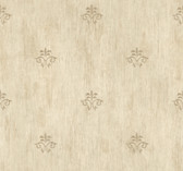 Handpainted III Classic Fleur De Lis Tan Wallpaper HP0392
