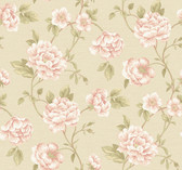 Vintage Patina RE9027 Peony Vine Wallpaper