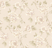 Vintage Patina RE9029 Peony Vine Wallpaper