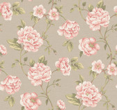 Vintage Patina RE9030 Peony Vine Wallpaper