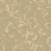 Vintage Patina RE9100 Two Color Scroll Wallpaper