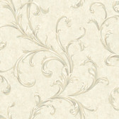 Vintage Patina RE9101 Two Color Scroll Wallpaper