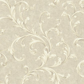Vintage Patina RE9102 Two Color Scroll Wallpaper