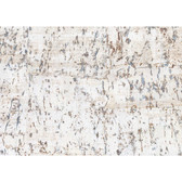CX1200 - Candice Olson Dimensional Surfaces Cork on Metallic Wallpaper - White/Silver Metallic