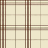 Norwall FK34400 Window Plaid large open plaid, brown on light brown background