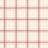 Norwall FK26910 Window Plaid large open plaid in red and pink