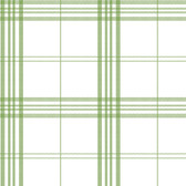 Norwall FK34401 Window Plaid large open plaid, green on white background