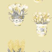 Norwall FK34420 Arrangements floral arrangements in vases on yellow background