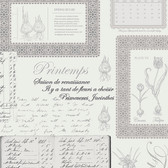 Norwall FK34417 Springtime botanical plates and springtime written in four languages