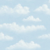 Chesapeake BYR47075 Fluff Blue Puffy Clouds Wallpaper
