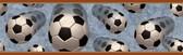Chesapeake BYR94254B Beckham Orange Soccer Motion Portrait Border