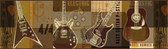 Chesapeake BYR94283B Halen Brown Guitar Collage Portrait Border