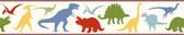 Chesapeake BYR94301B Dino Mighties Red Dinosaur Toss Border