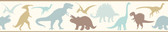 Chesapeake BYR94302B Dino Mighties Blue Dinosaur Toss Border