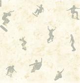 Chesapeake BYR95583 Sheen Cream Skaters Toss Wallpaper