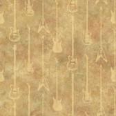 Chesapeake BYR95596 Peter Brown Guitar Stripe Wallpaper