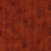 Chesapeake BYR95597 Peter Red Guitar Stripe Wallpaper
