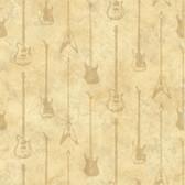 Chesapeake BYR95598 Peter Cream Guitar Stripe Wallpaper