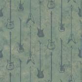 Chesapeake BYR95599 Peter Blue Guitar Stripe Wallpaper