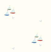 Chesapeake - Arthur Red Sailboat Spot Toss Wallpaper BYR95701