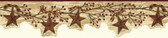 Chesapeake FFR15051B Neutral Tin Star Garland Border