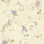 Chesapeake FFR21603 Beige Lilac Acanthus