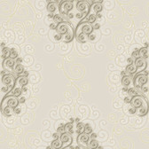 HMY57511 Harmony Dove Geo Medallion Wallpaper