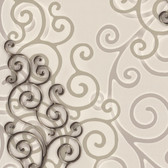 HMY57513 Harmony Bone Geo Medallion Wallpaper